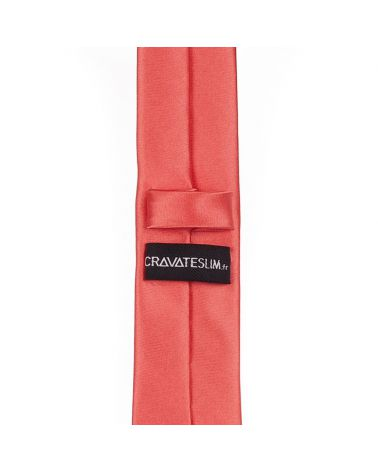 Cravate Slim Corail Premium