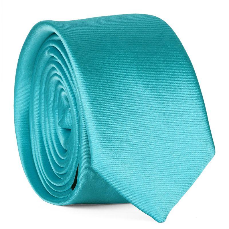 Cravate Slim Bleu turquoise Premium