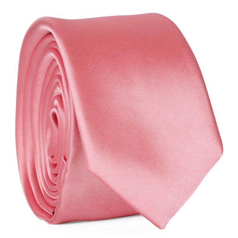 Cravate Slim Rose Premium