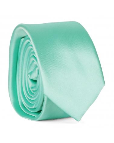 Cravate Slim Vert d'eau Premium