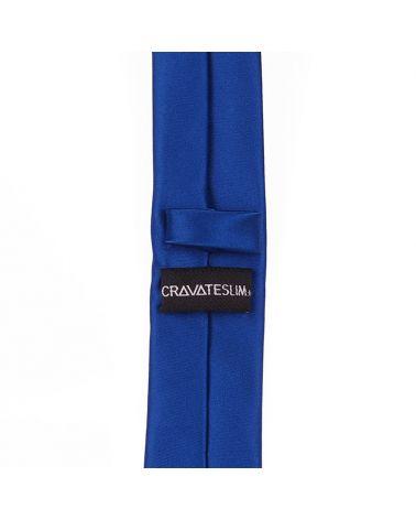 Cravate Slim Bleu roi Premium