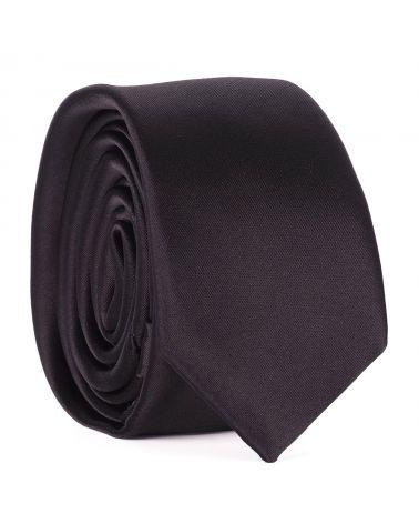 Cravate Slim Noire Premium