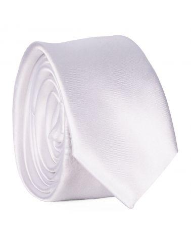 Cravate Slim Blanche Premium