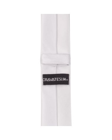 Cravate Slim Blanche Premium