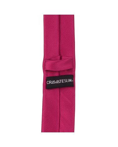 Cravate Slim Fushia Premium