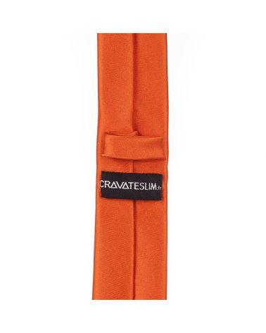 Cravate Slim Orange Premium