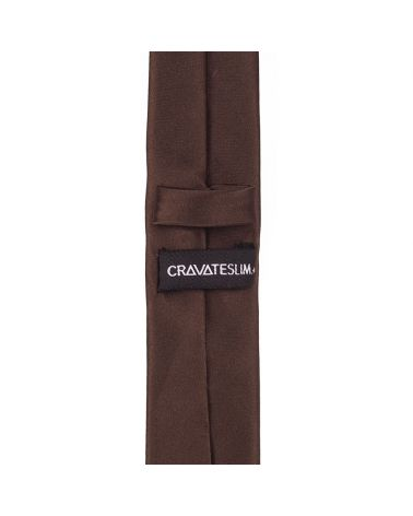 Cravate Slim Marron Premium