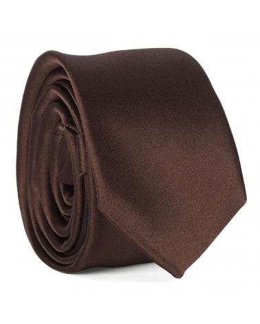 Cravate Slim Marron Premium