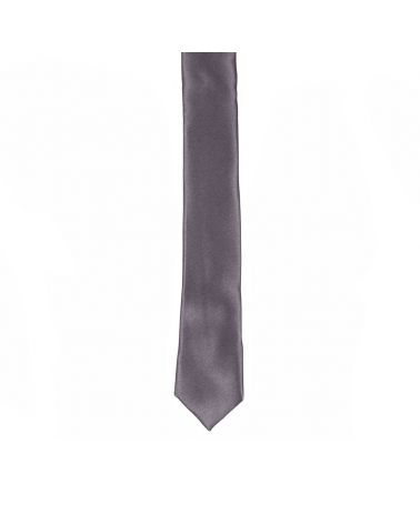 Cravate Slim Gris anthracite Premium