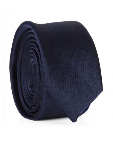 Cravate Slim Bleu marine Premium