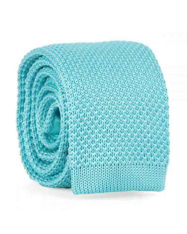 Cravate Tricot Bleu turquoise