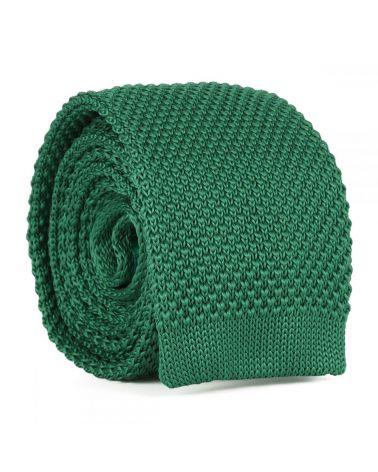 Cravate Tricot Verte