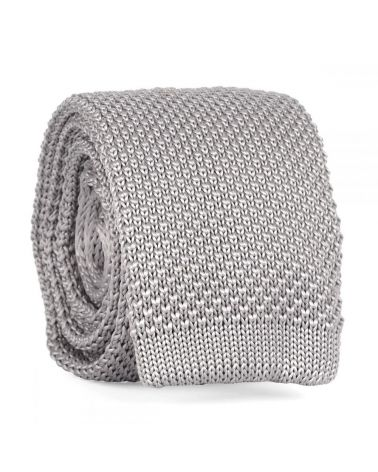 Cravate Tricot Gris perle