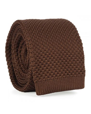 Cravate Tricot Marron clair