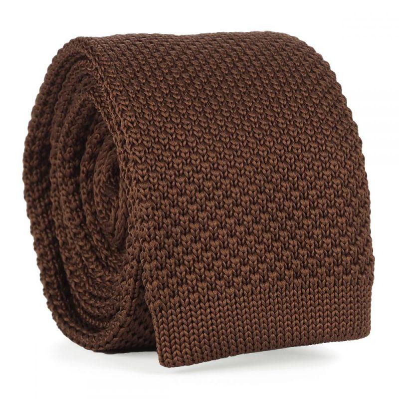 Cravate Tricot Marron clair