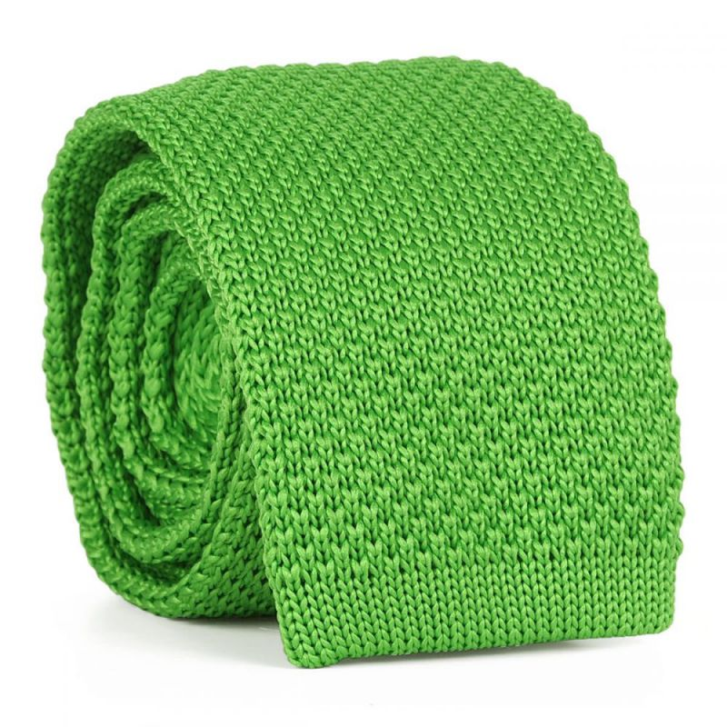 Cravate Tricot Vert pomme