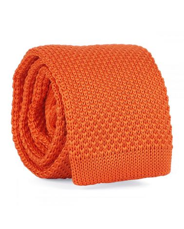 Cravate Tricot Orange