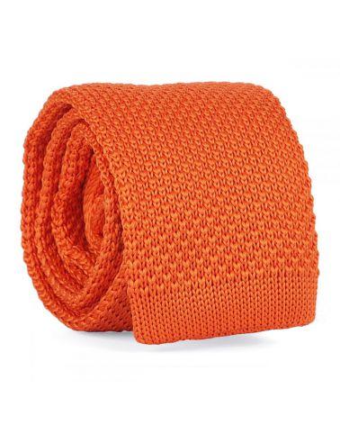 Cravate Tricot Orange