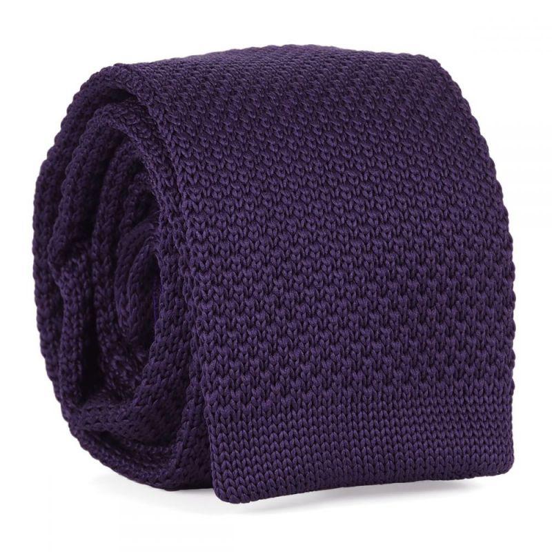Cravate Tricot Violette