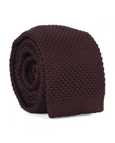 Cravate Tricot Marron