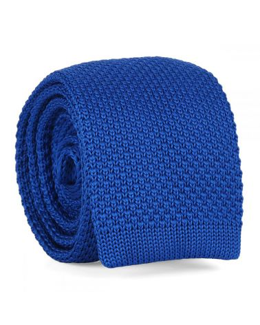 Cravate Tricot Bleu roi