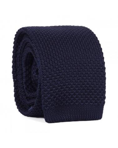 Cravate Tricot Bleu marine