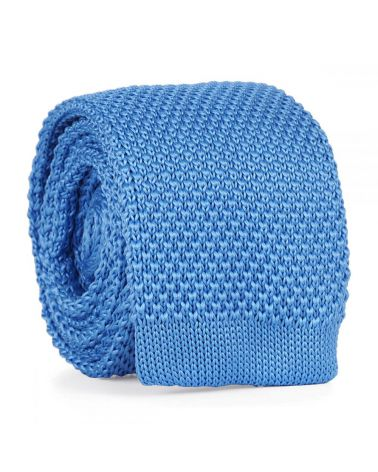 Cravate Tricot Bleu ciel