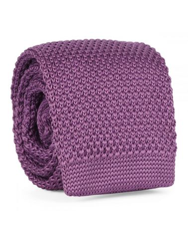 Cravate Tricot Mauve
