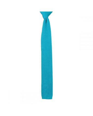 Cravate Tricot Bleu turquoise soutenu
