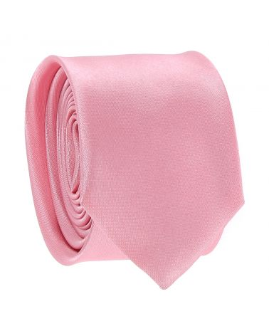 Cravate Slim Rose pale