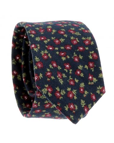 Cravate Liberty Bleu marine et Bordeaux