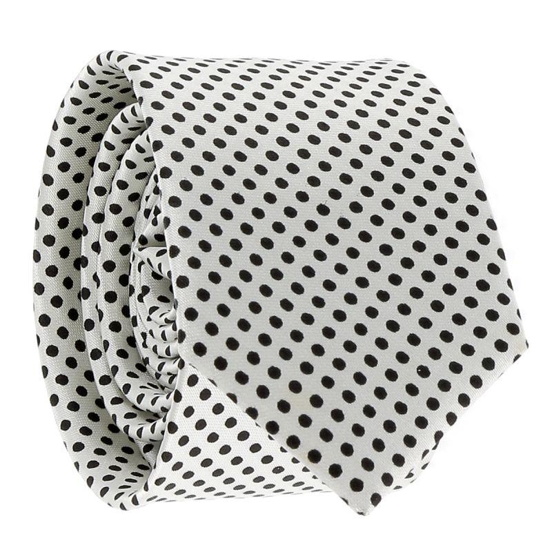 Cravate à Pois Blanche et Noire