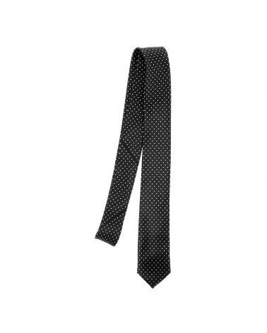 Cravate à Pois Noire et Blanche