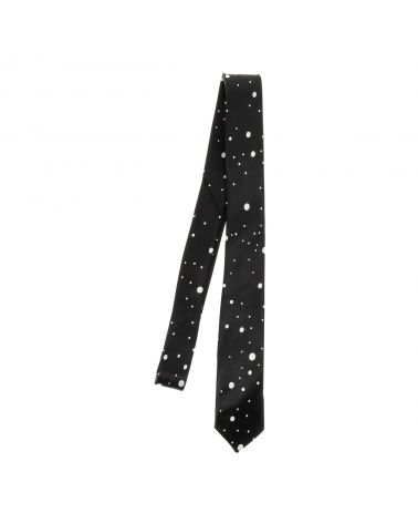 Cravate à Pois Noire et Blanche Fantaisie
