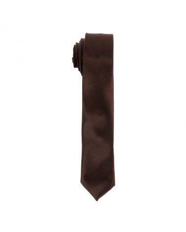 Cravate Slim Marron