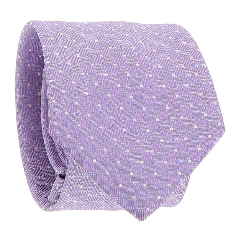 Cravate Parme à Pois Blancs