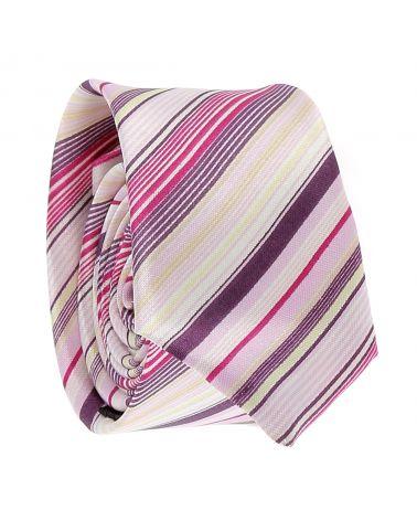 Cravate Rayée Rose