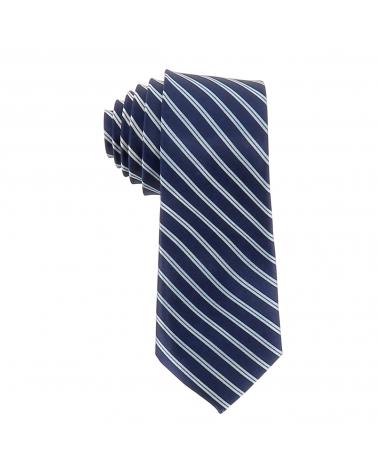 Cravate Rayée Bleu marine et Blanche