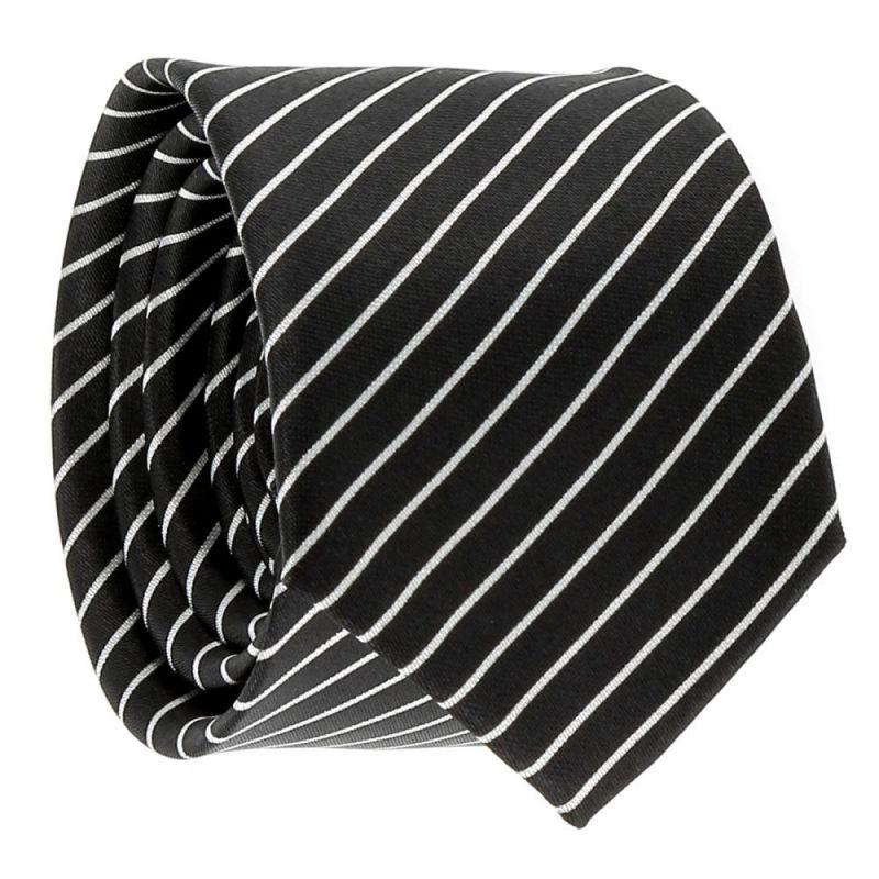 Cravate Rayée Noire et Blanche