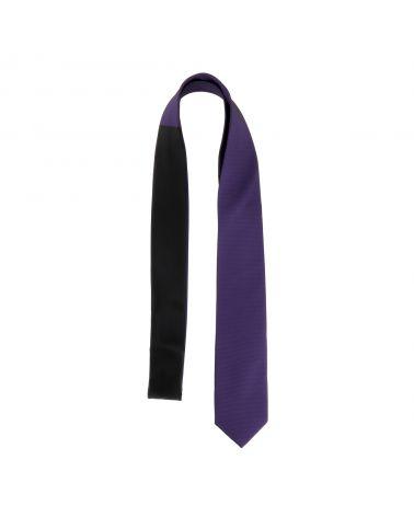 Cravate Slim Bicolore Violette et Noire