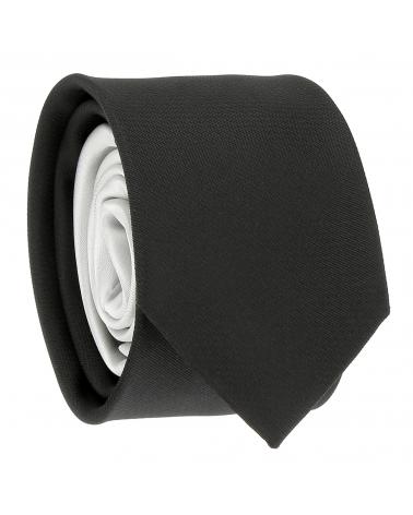 Cravate Slim Bicolore Noire et Gris clair