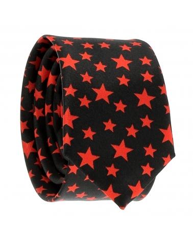 Cravate Etoile Noire et Rouge