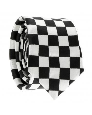 Cravate Noire et Blanche Damier