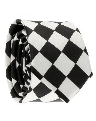 Cravate Noire et Blanche Losanges Grands