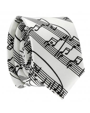 Cravate Partition Blanche