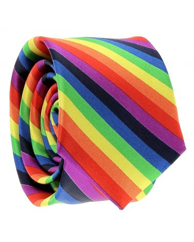 Cravate Arc-En-Ciel Multicolore
