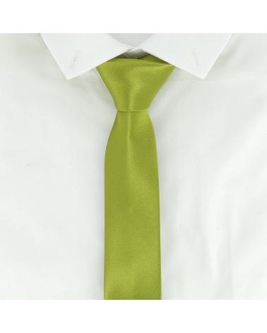 Cravate Slim Vert olive