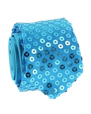 Cravate Paillette Bleu turquoise