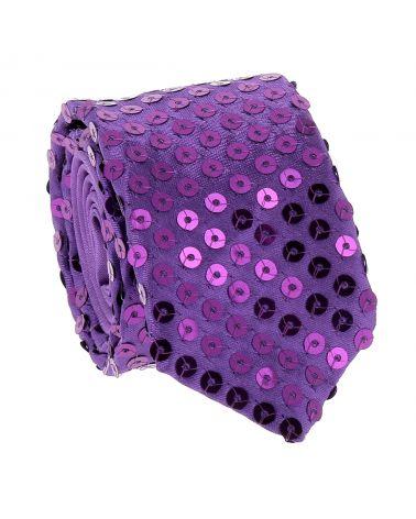 Cravate Paillette Violette