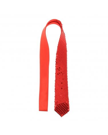 Cravate Paillette Rouge